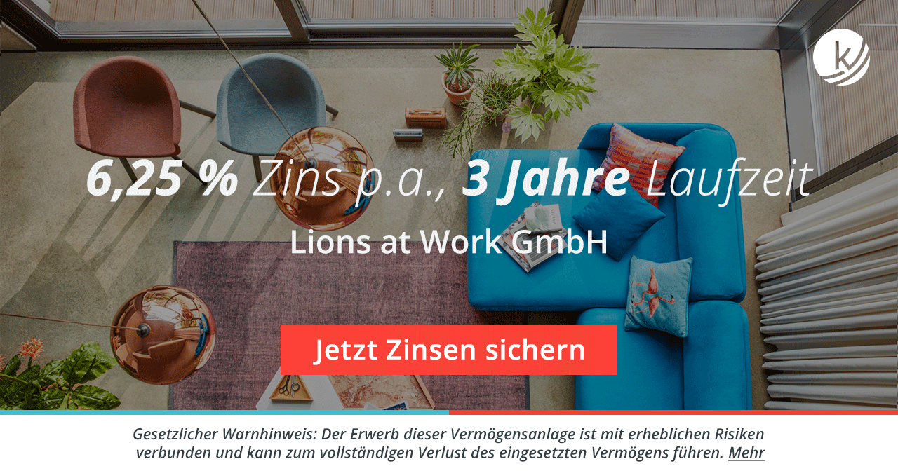 crowdlending lions at work gmbh conmoto designerm bel. Black Bedroom Furniture Sets. Home Design Ideas