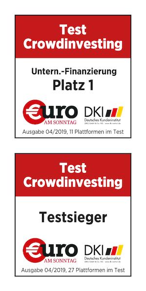Kapilendo ist Testsieger: Platz 1, beste Unternehmensfinanzierung